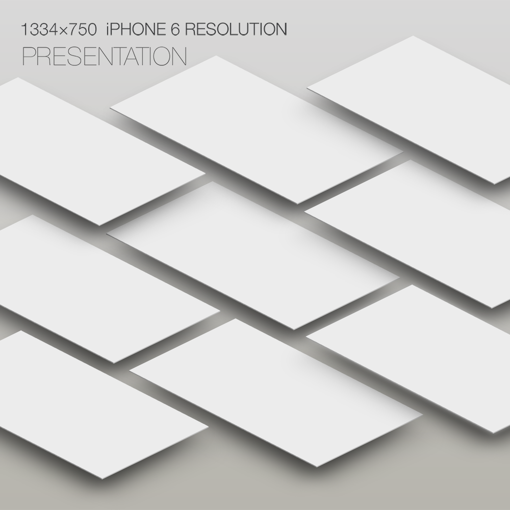 Free PSD iPhone 6 Mockup Screen Presentation