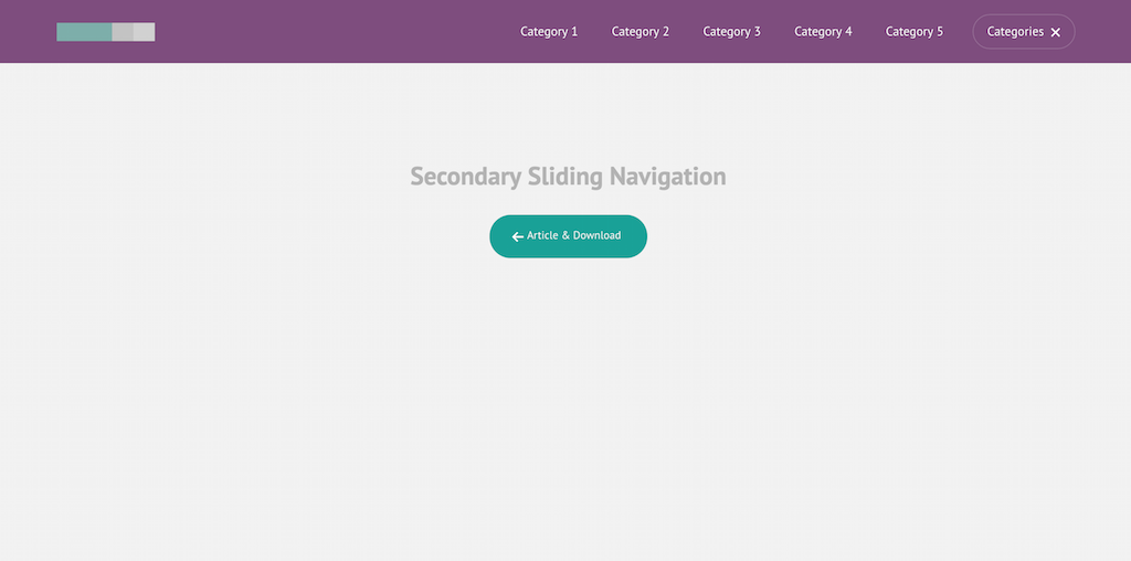 Secondary Sliding Navigation CodyHouse