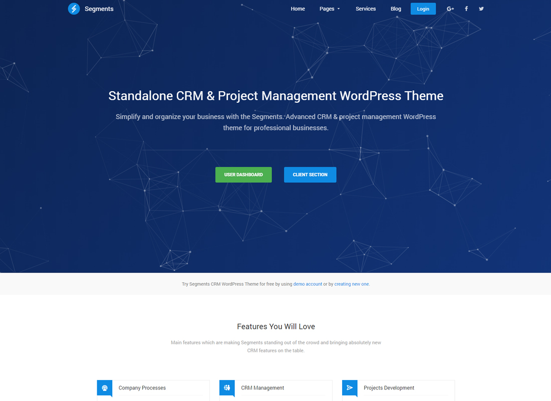 Segments | CRM & Project Management WordPress Theme