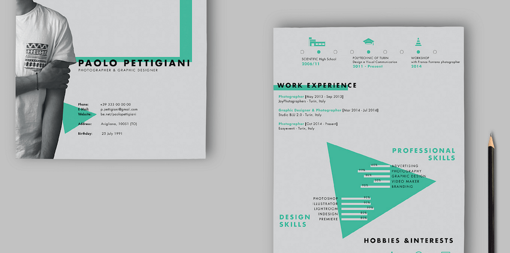 Self Promotion CV By Paolo Pettigiani  Design A Resume