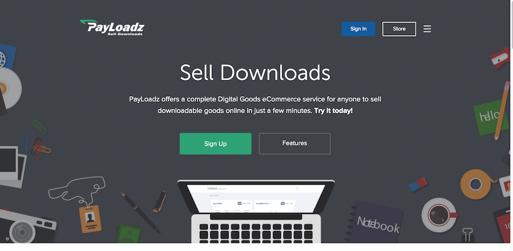 Sell Downloads PayLoadz