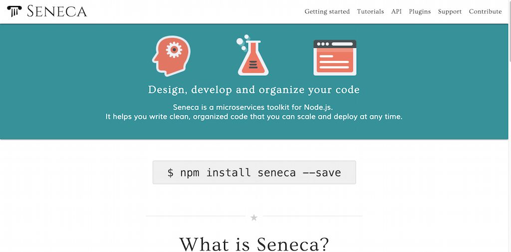 Seneca a microservices toolkit for Node.js