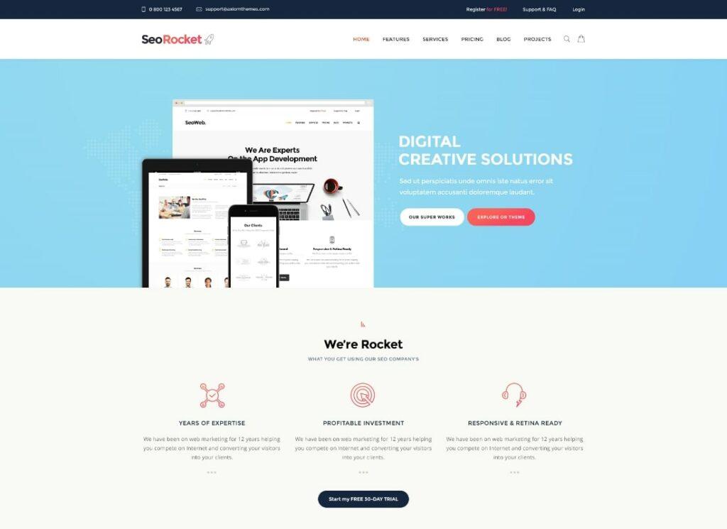 Seo Rocket | SEO & Marketing WordPress Theme
