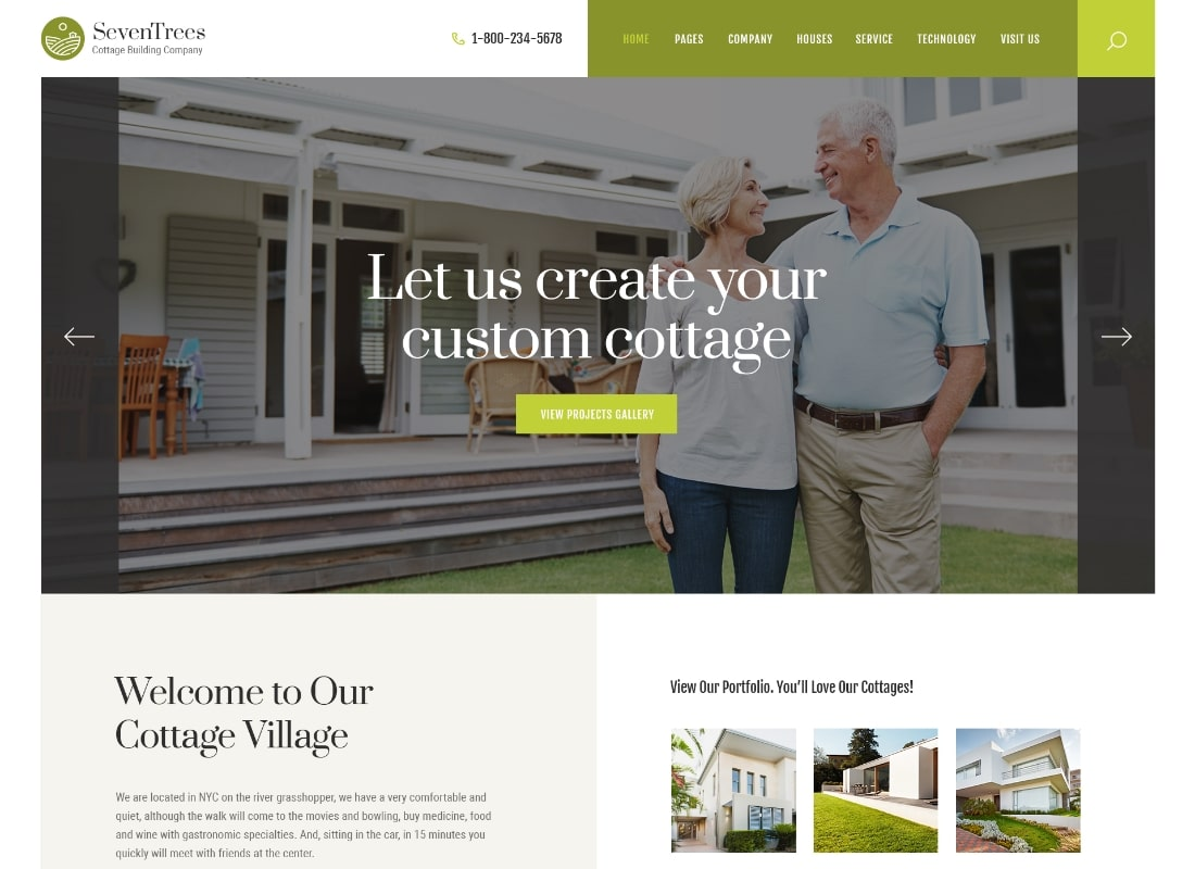SevenTrees | Real Estate Property WordPress Theme