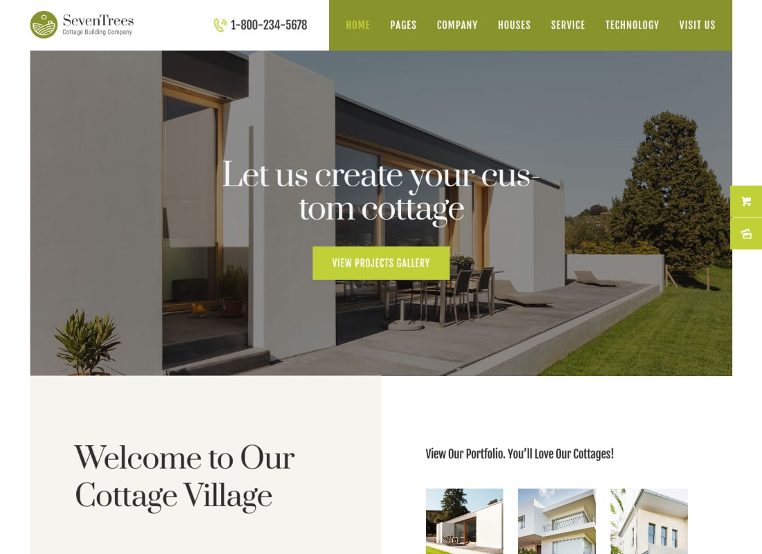 SevenTrees | Real Estate Property WordPress Theme