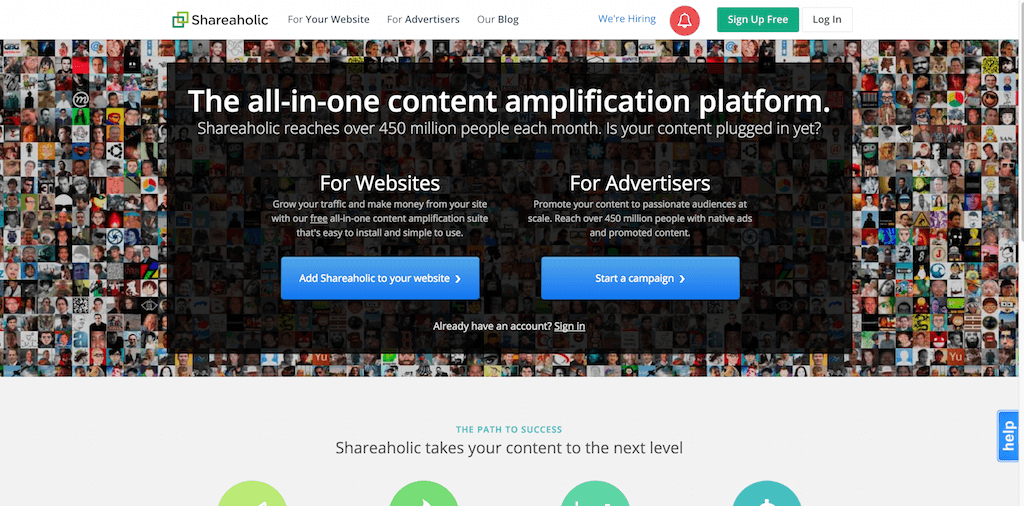 Shareaholic — Content Amplification Software