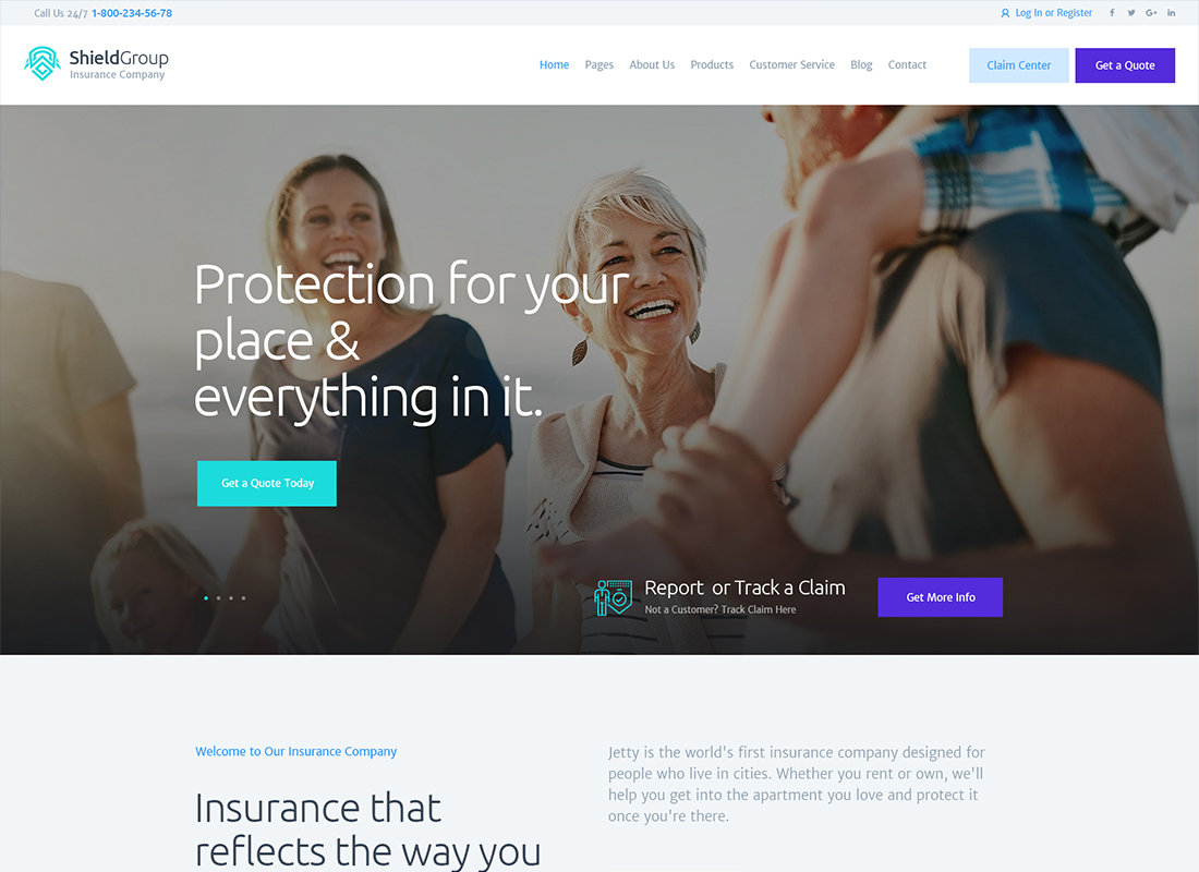 ShieldGroup - An Insurance & Finance WordPress Theme