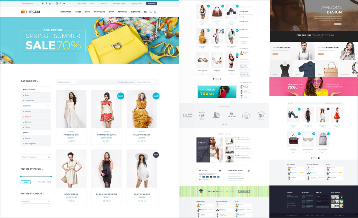 thegem wordpress theme review a creative multi purpose tool thegem has been built to work seamlessly woocommerce the most popular online shop builder tool for wordpress woocommerce is a mium plugin a