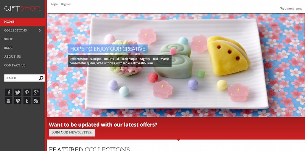 Shopify Giftshop Theme
