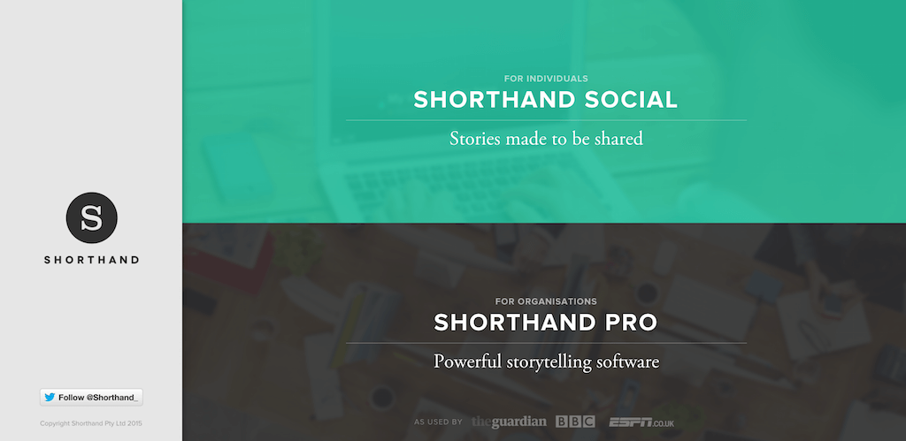 Shorthand — Make the most of your story