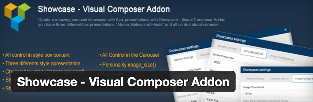 Showcase Visual Composer Addon — WordPress Plugins