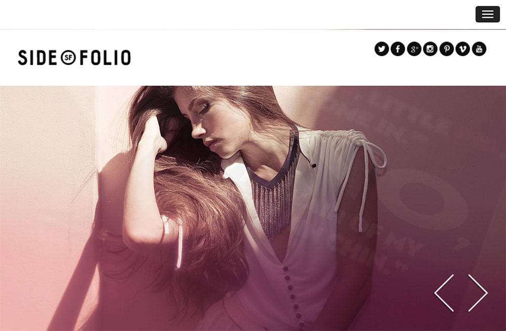 Side Folio WordPress Theme