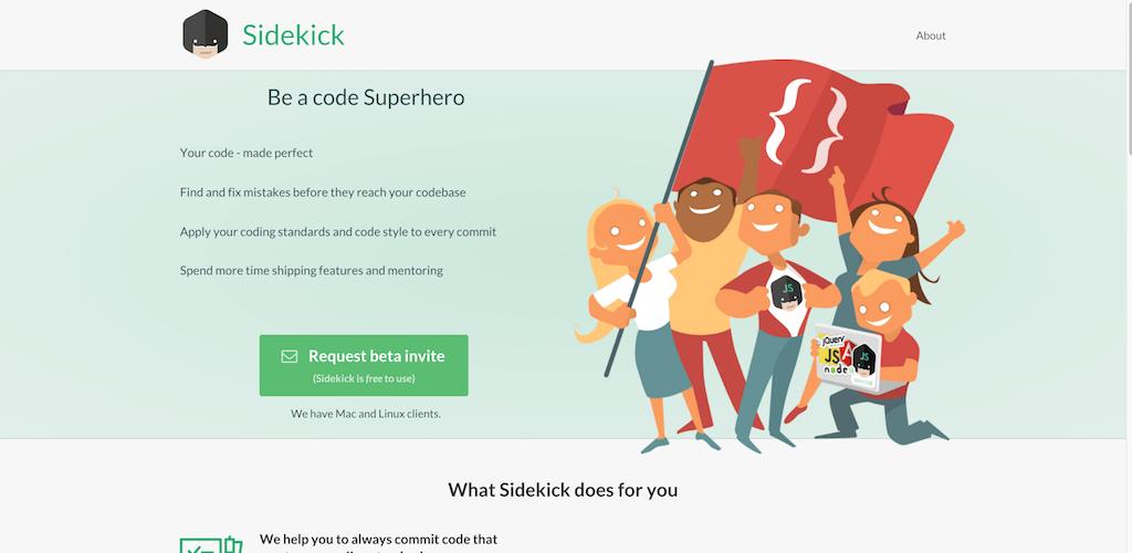 Sidekick Be a code superhero