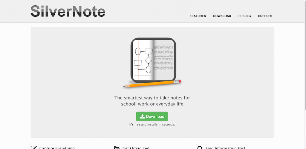 SilverNote Note Taking Software