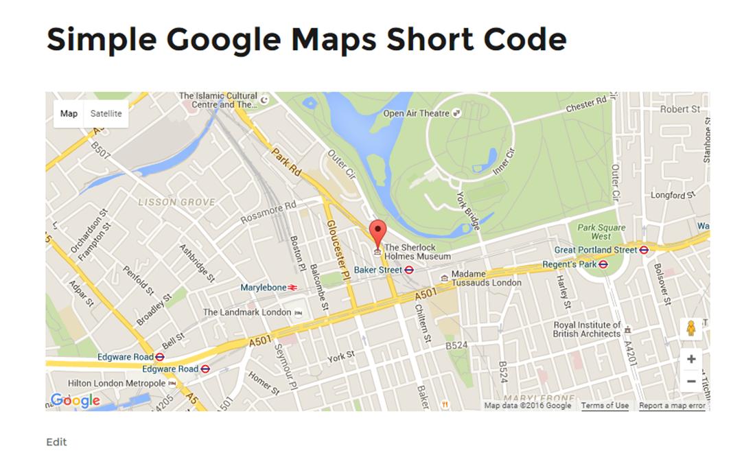 Simple Google Maps Short Code