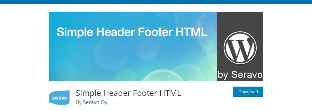 Simple Header Footer HTML