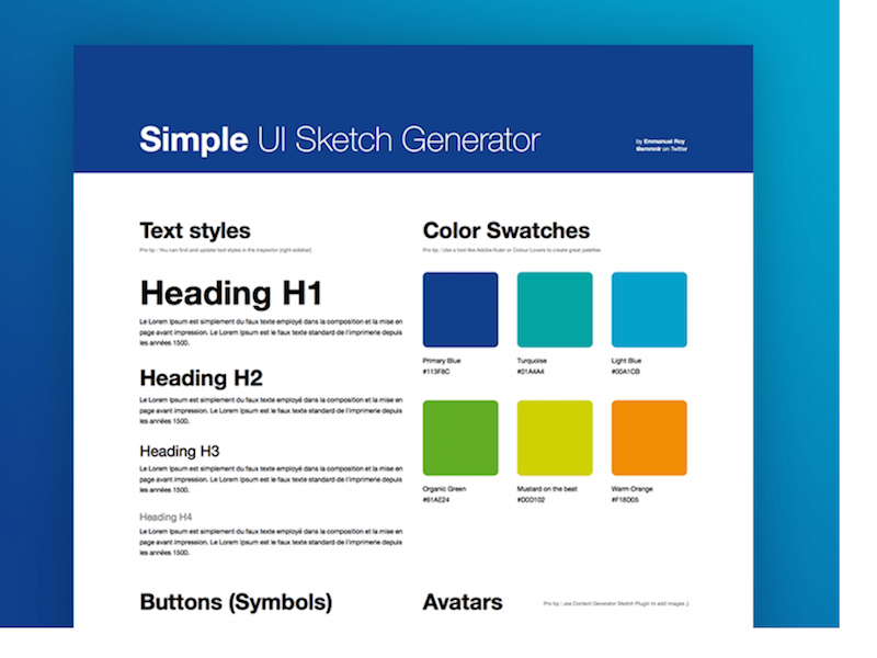 Simple UI Sketch Generator