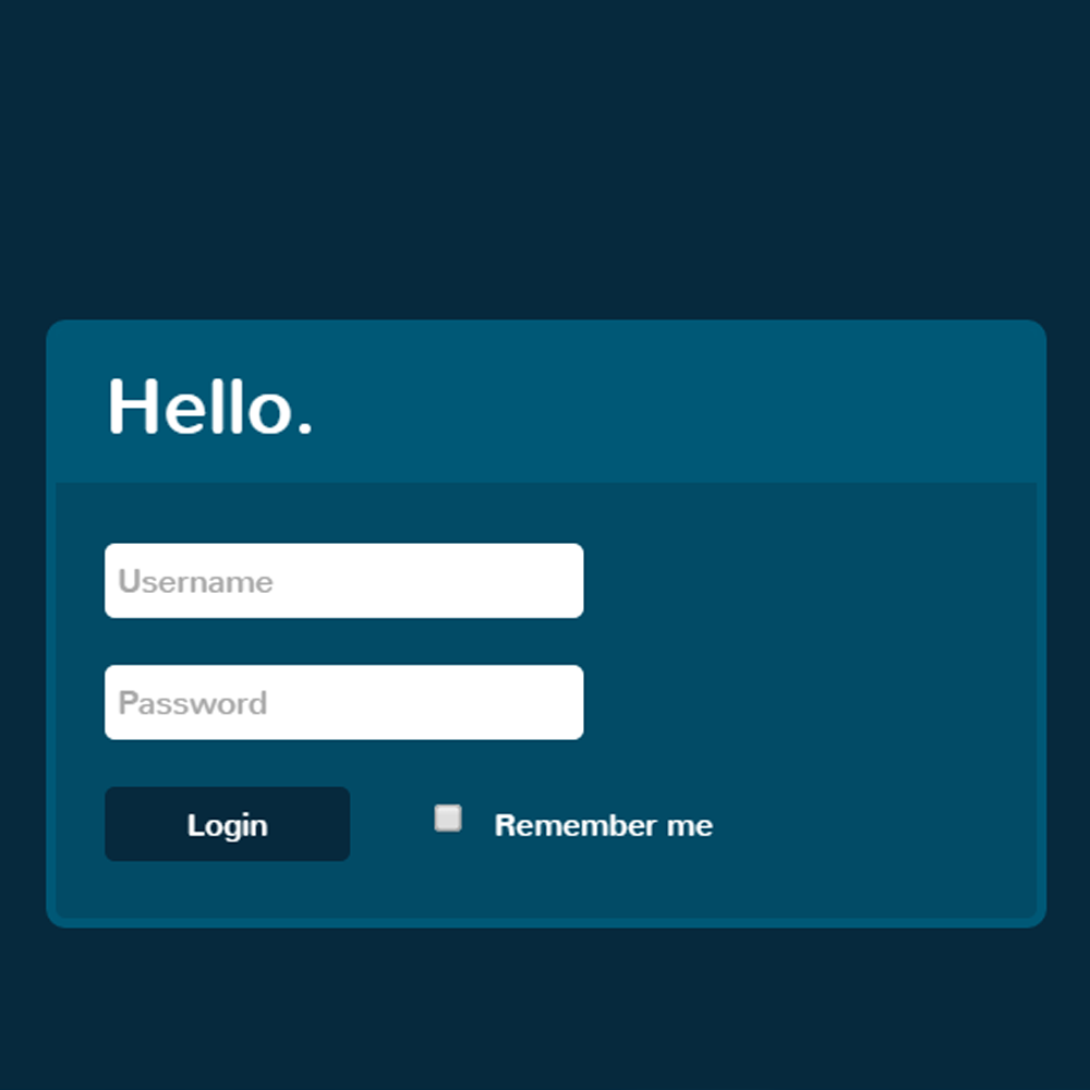 Simple Form With Spinning Loader CSS3 HTML5