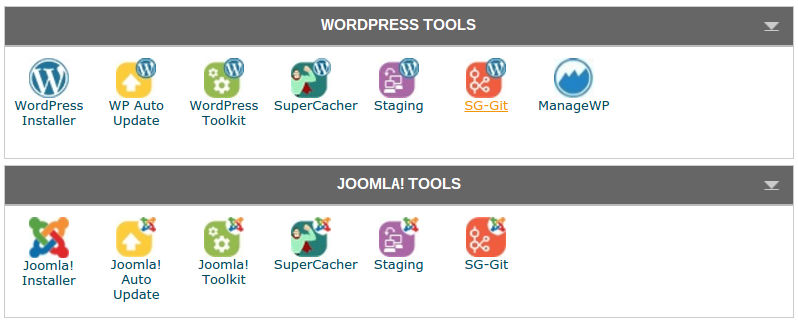 SiteGround-WordPress and Joomla Tools