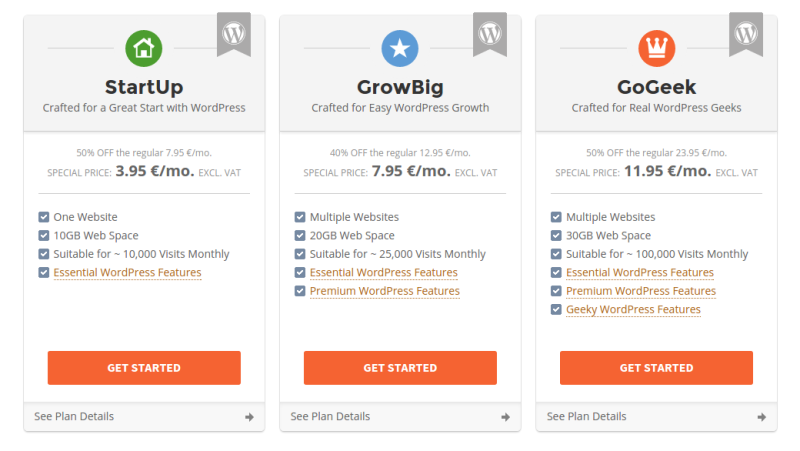 SiteGround WordPress Features