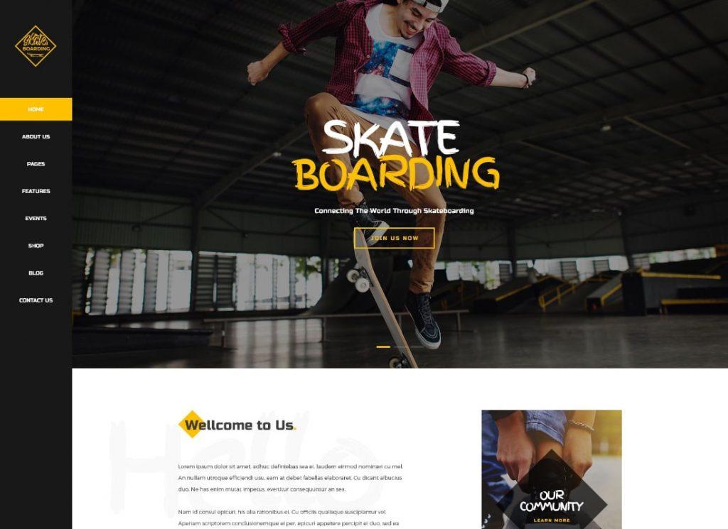 Skateboarding | Scateboarding Community & Store WordPress Theme