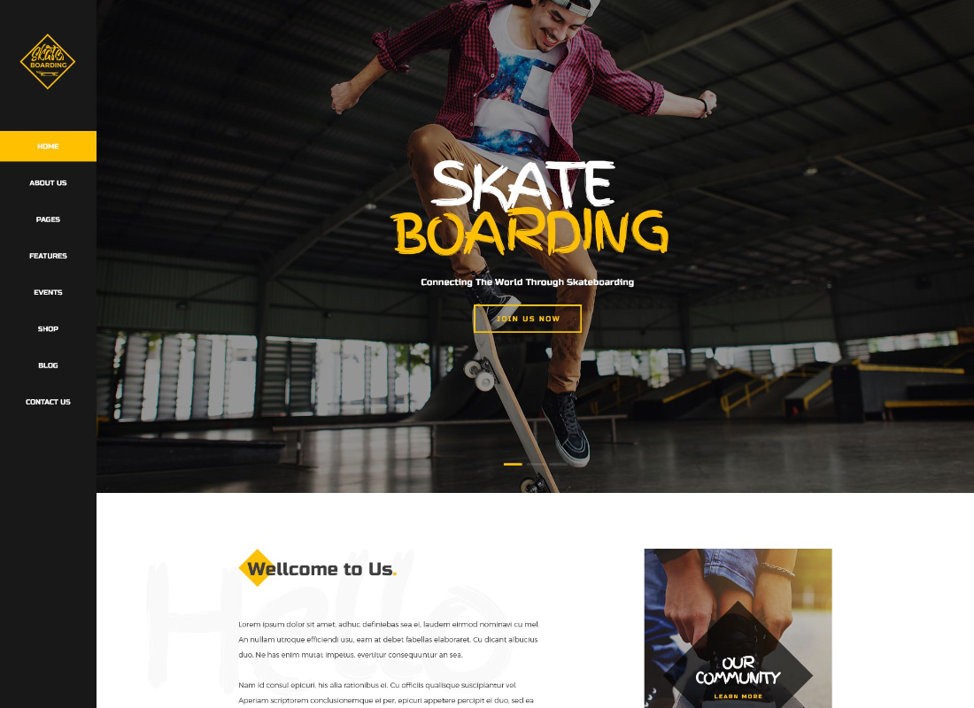 Skateboarding | Skateboarding Community & Store WordPress Theme