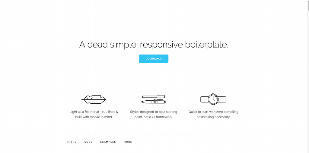 Skeleton Responsive CSS Boilerplate