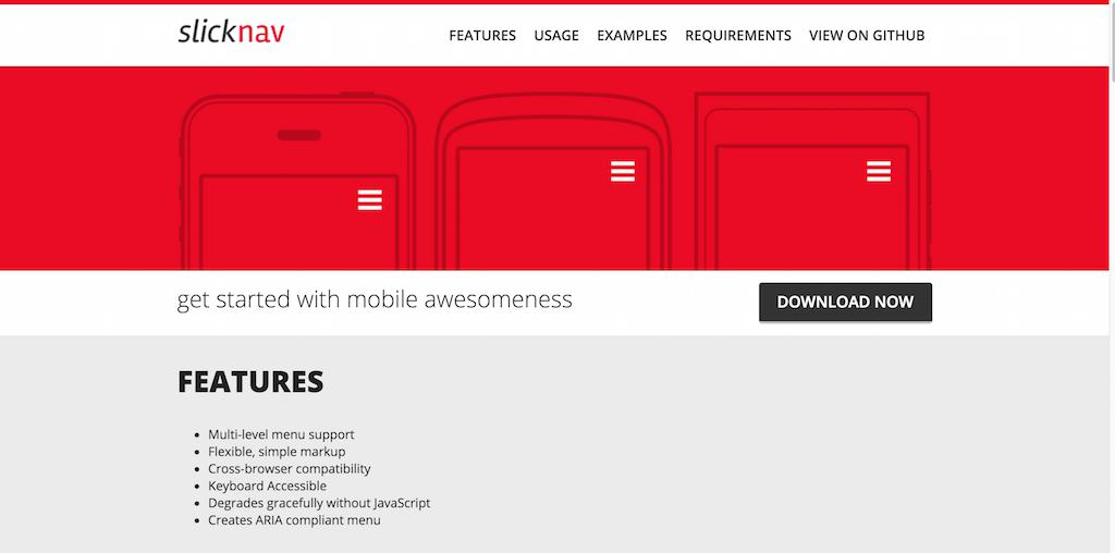 SlickNav Responsive Mobile Menu Plugin for jQuery