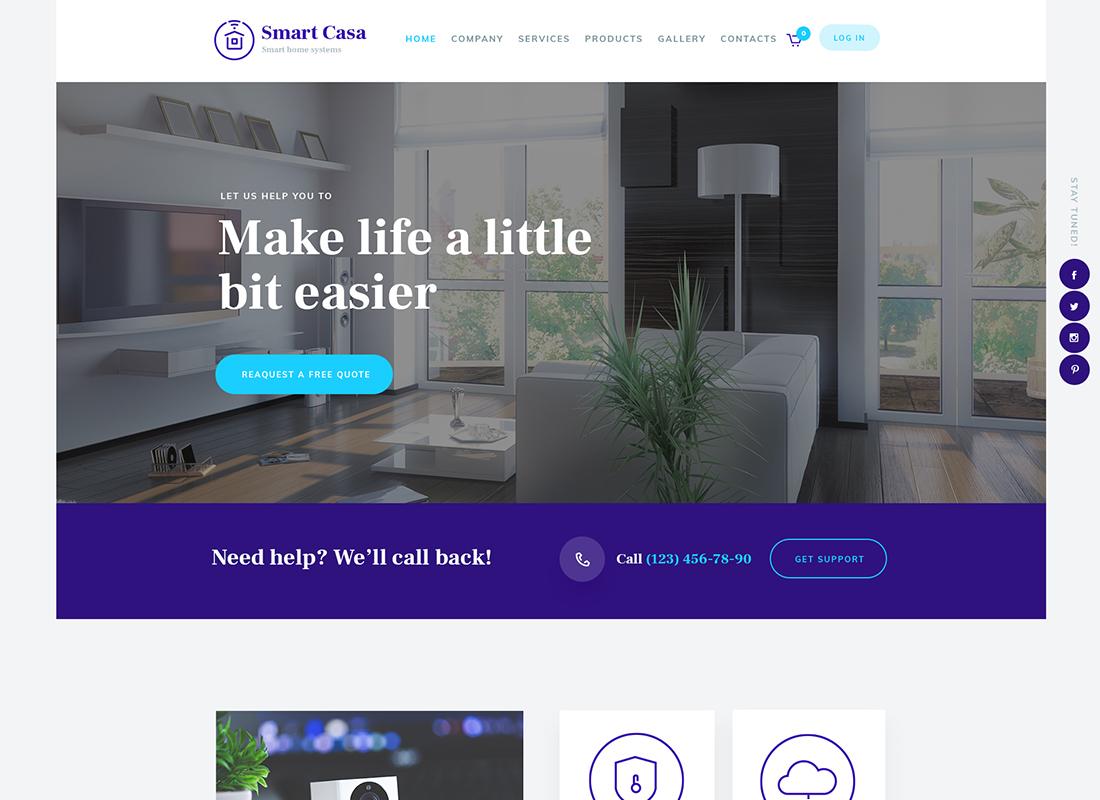 Smart Casa - Home Automation & Technologies WordPress Theme