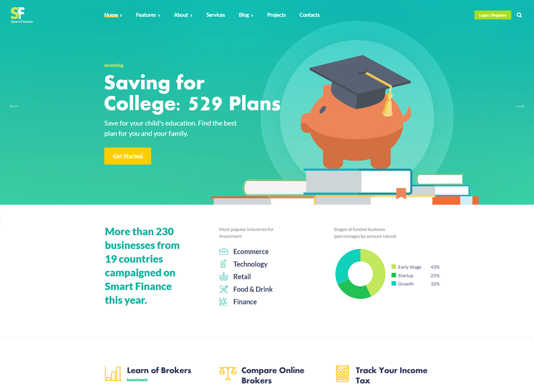 Smart Finance | Accounting & Tax Help WordPress Theme