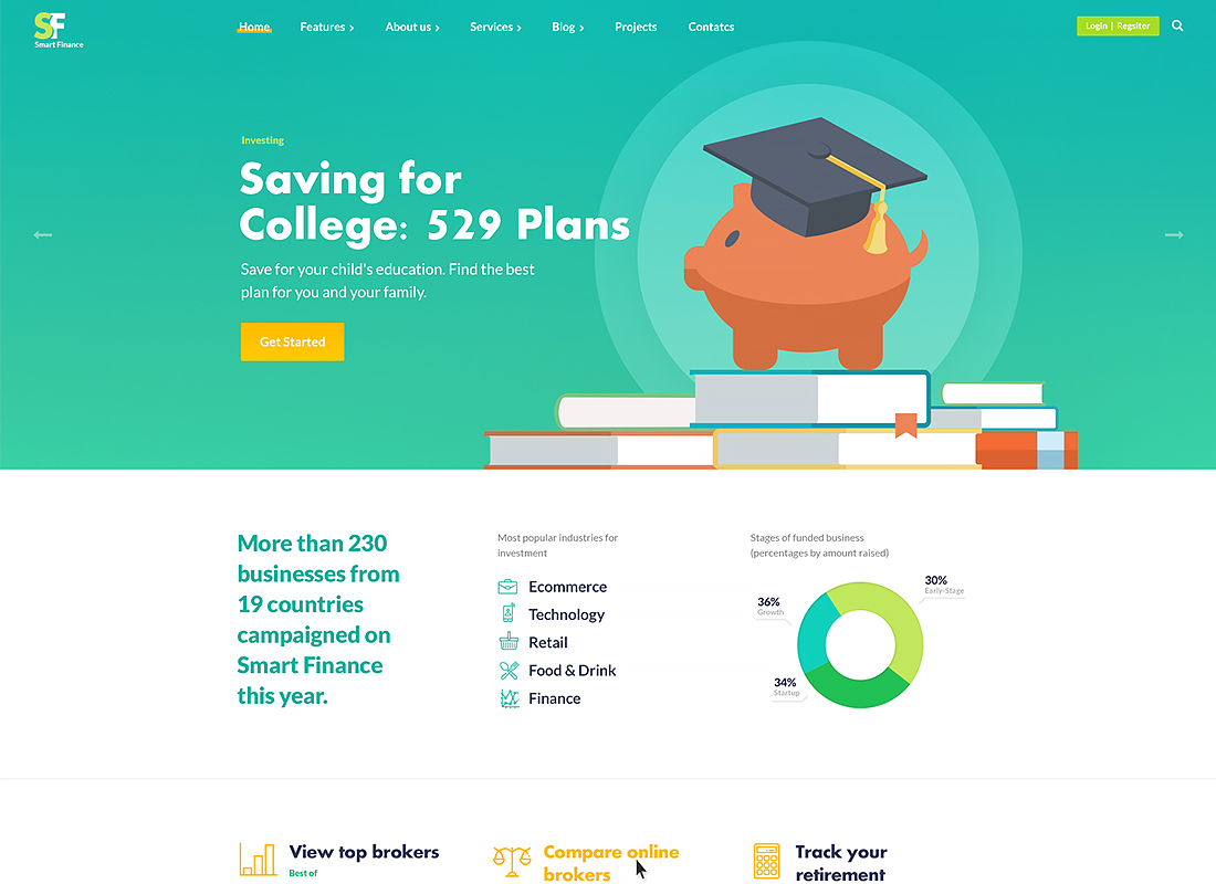 Smart Finance - Accounting & Tax Help WordPress Theme