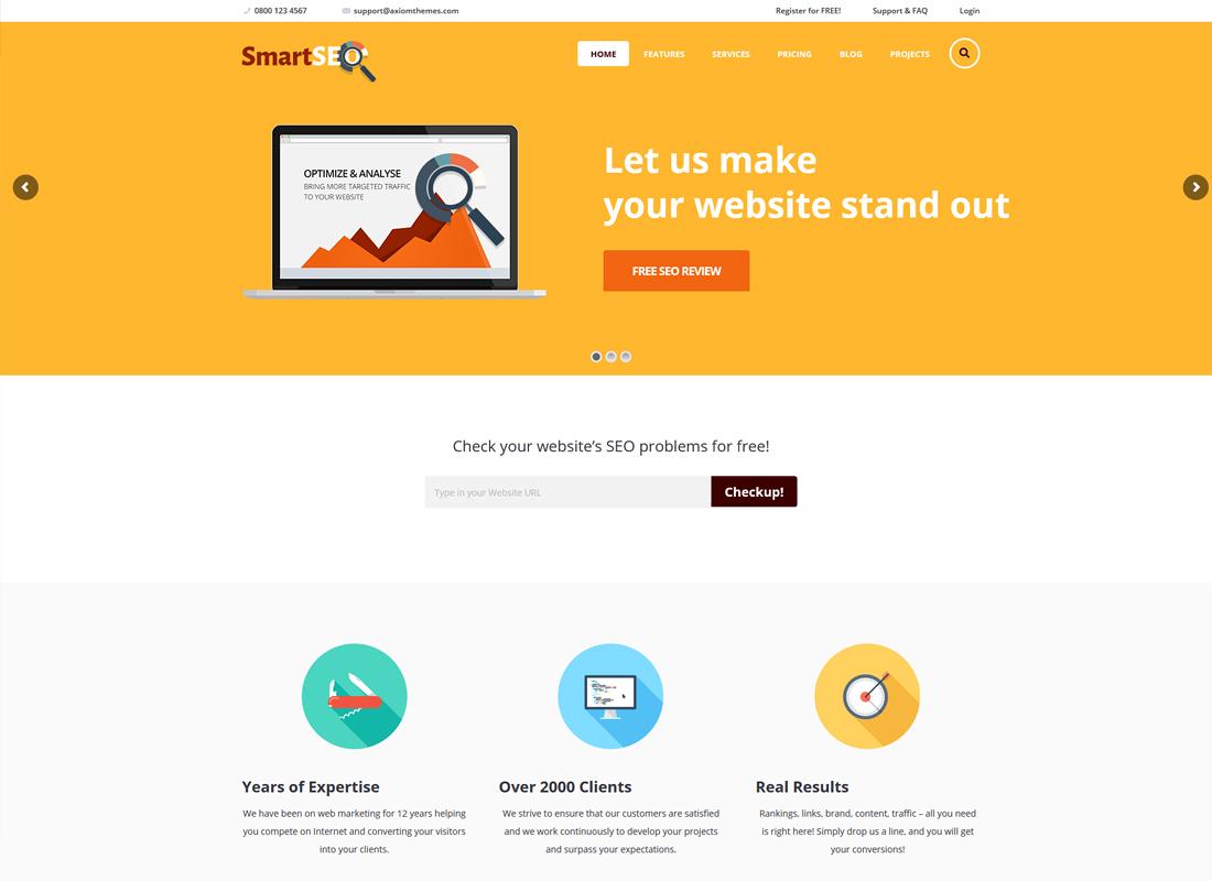 SmartSEO - SEO & Marketing Services WordPress Theme