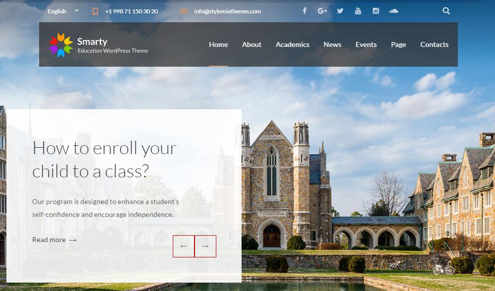 Smarty Education WordPress Theme Review