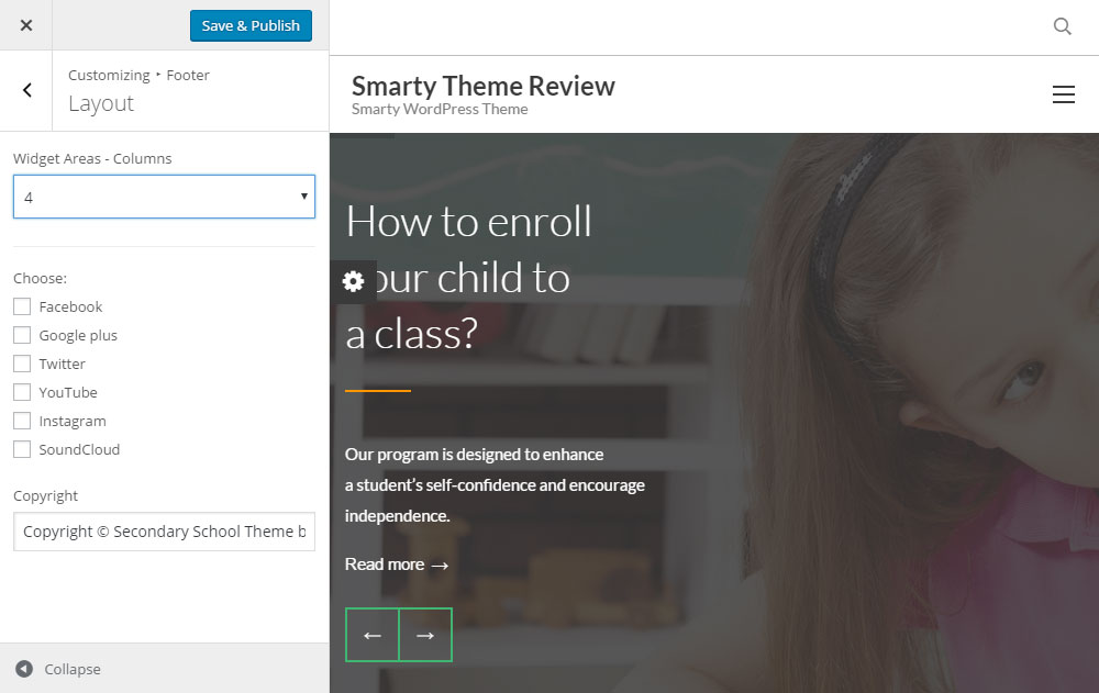 Smarty Theme Review Footer