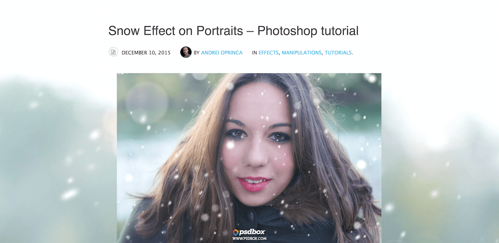 Snow Effect on Portraits