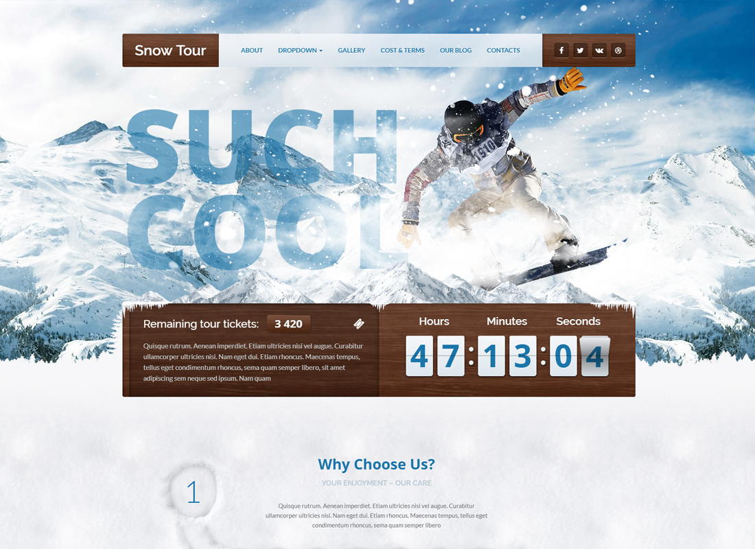 Snow Tour - WordPress Winter Travel/Tour Theme