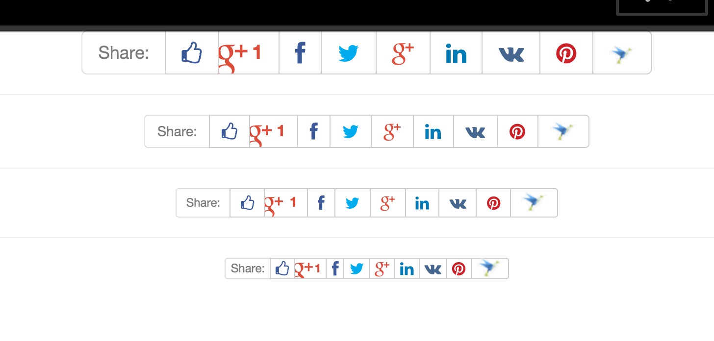 Social Buttons using HTML only