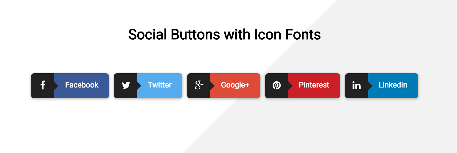 Social Buttons with Icon Fonts