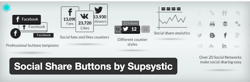 Social Share Buttons by Supsystic
