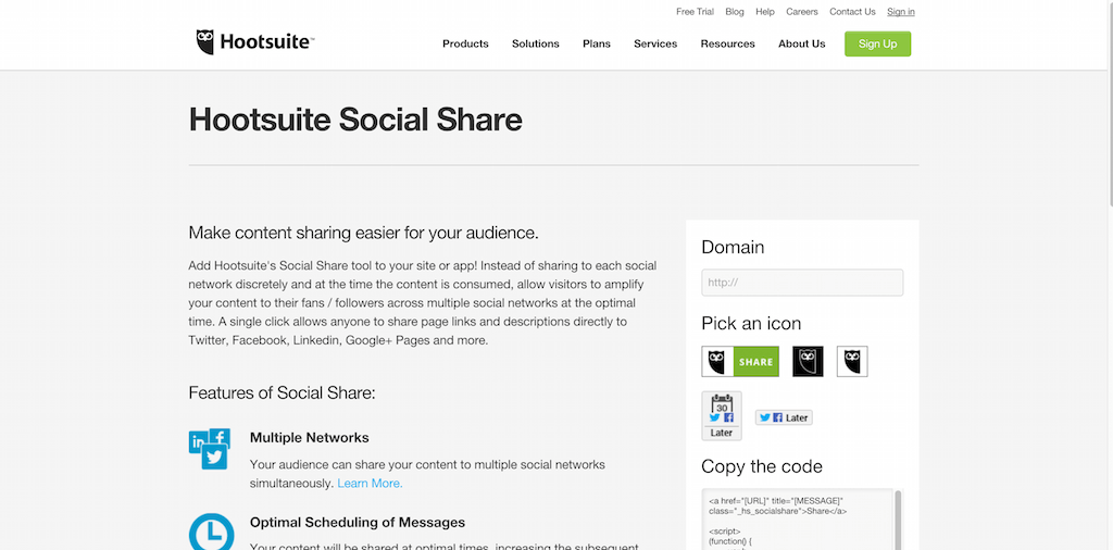 Social Share Hootsuite Social Media Management