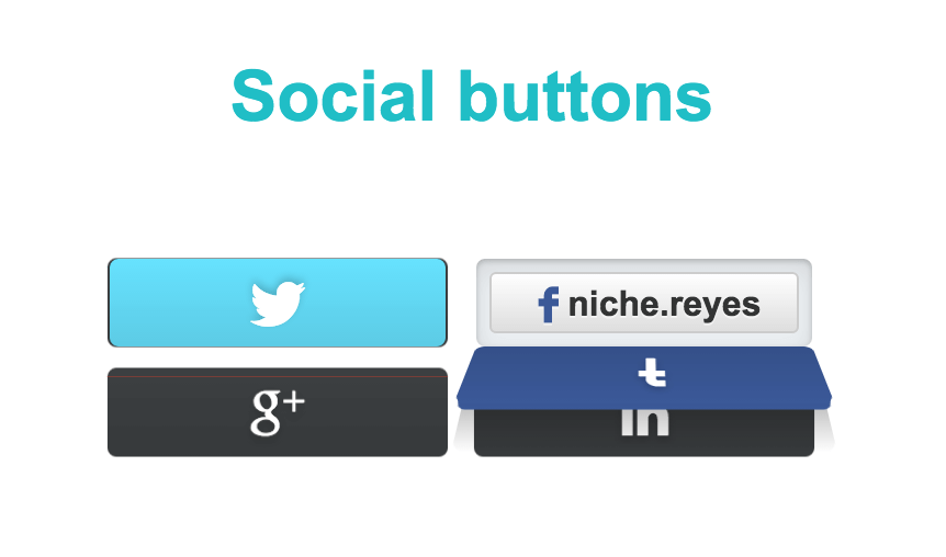 Social button concept by Erik Deiner