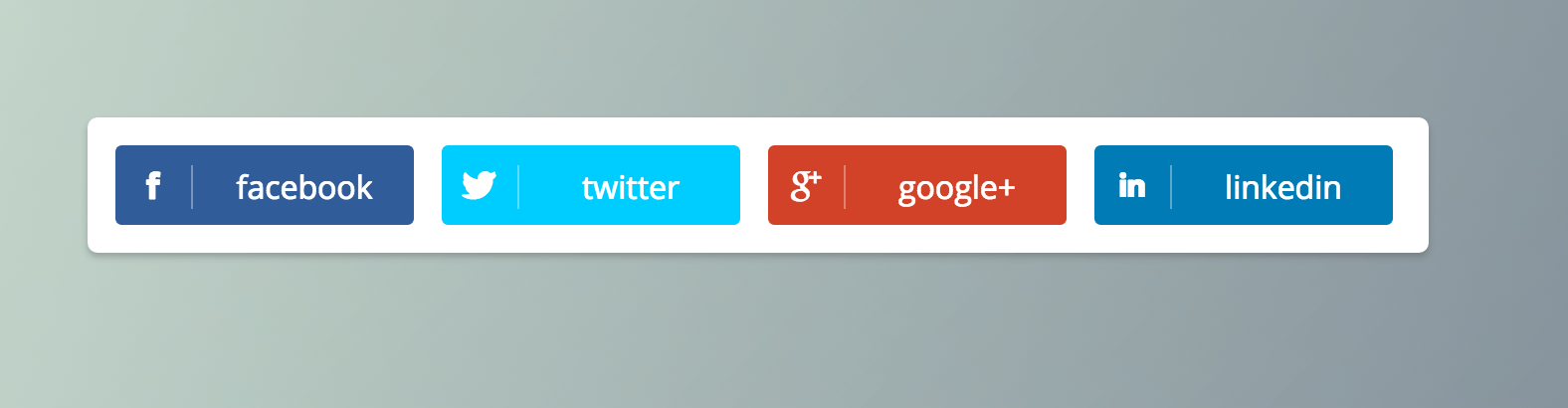 Social buttons with hover