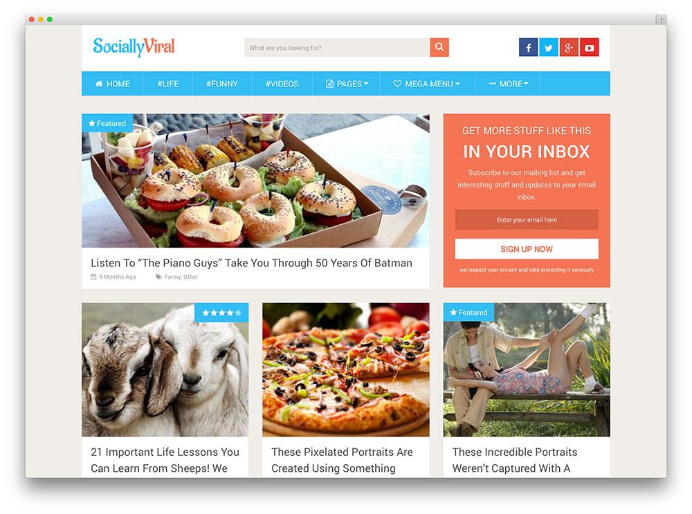 sociallyviral wildfire blog template