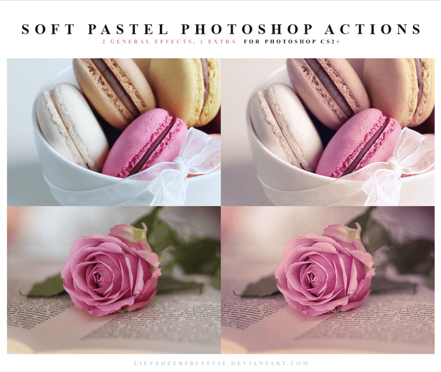 Soft pastel Actions