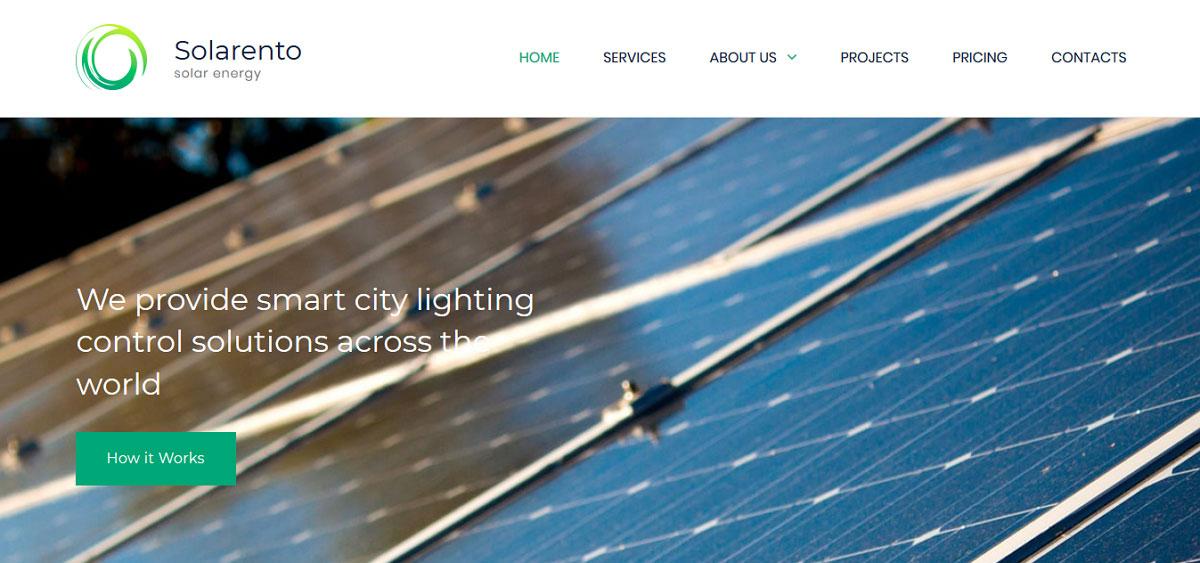 Solar panel website template