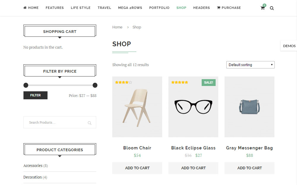 Soledad Theme Review Ecommerce 01