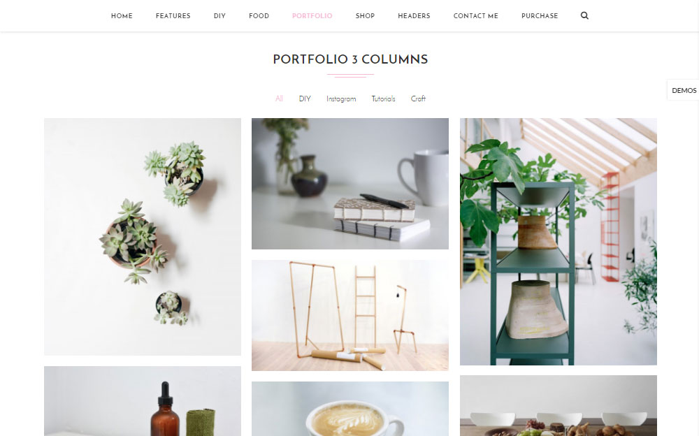 Soledad Theme Review Portfolio 3 Columns