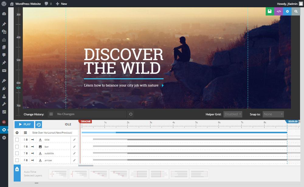 Soledad Theme Review Slider Revolution Edit