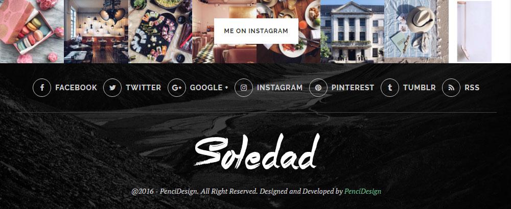 Soledad Theme Review Social Media