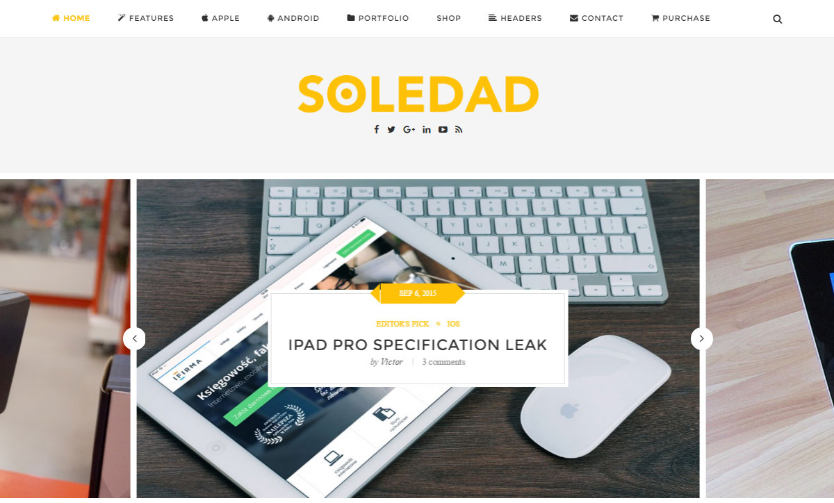 Soledad Theme Review Tech Demo
